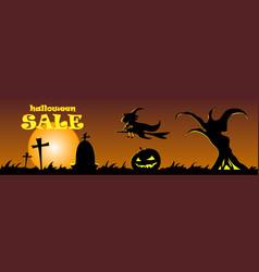 happy halloween banner design vector image vector image