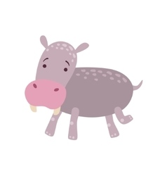 Hippo stylized childish drawing vector