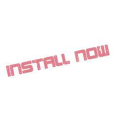 install now rubber stamp vector image