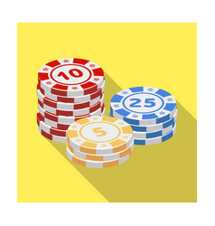 playing chips the settlement coin in the casino vector image