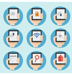 web and internet icon in flat design vector image vector image