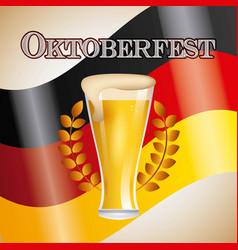 welcome oktoberfest beer festival vector image