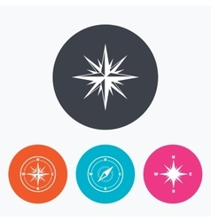 Windrose navigation icons Compass symbols vector image vector image