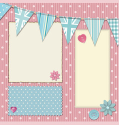 Pink polka dot srapbooking background vector