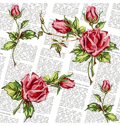 Rose pattern on journal vector