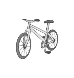 Bike icon black monochrome style vector