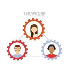 Teamwork people business icon vector