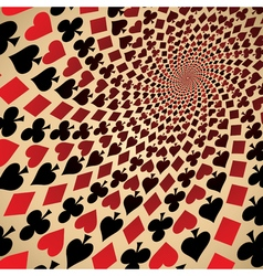 Playing cards op art vector