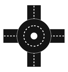 Big road junction icon simple style vector