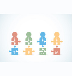 Businessmen with jigsaw puzzle pieces vector