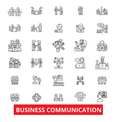 Business communication connection teamwork vector