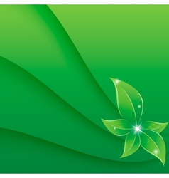 Green leaf vector