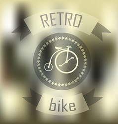 Hipster blur retro vintage label background with vector