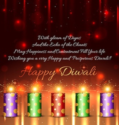 Happy diwali background vector