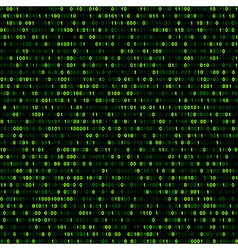 Binary background with green digits vector