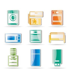 Home electronics and equipment icon vector