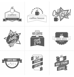 Set of different coffee shop logo templates vector