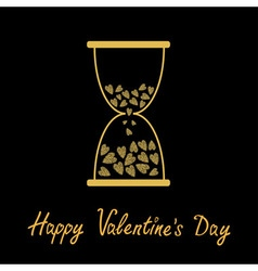 Happy valentines day love card hourglass with vector