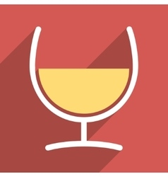Remedy glass flat longshadow square icon vector