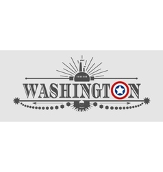 Washington city name with flag colors vector