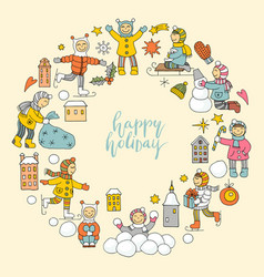 a set of icons on a theme of christmas and new vector image vector image