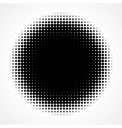 Abstract Halftone Black and White Isolated Modern vector image