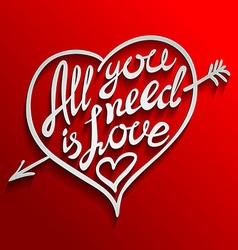 All you need is love romantic card with vector