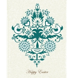 Beautiful vintage Easter background vector image