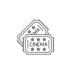 Cinema ticket line icon vector image vector image