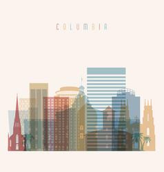Columbia state south carolina skyline vector