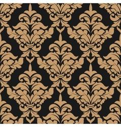 Damask style seamless pattern vector image