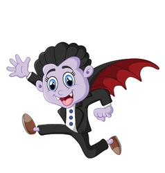 dracula cartoon vector image