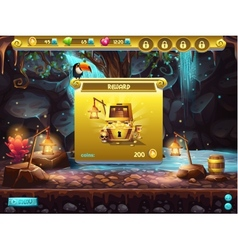 Example of a user interface for a computer game vector image vector image