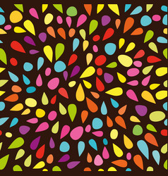 Festive seamless pattern with colorful paint vector