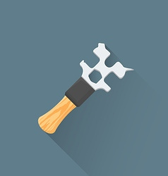 Flat coffee machine wrench icon vector