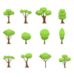 green tree set vector image