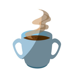 Hot coffee icon vector