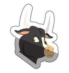 Isolated bull cartoon design vector