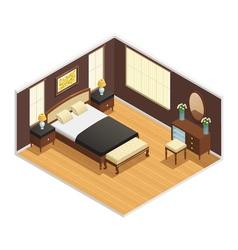 Isometric luxury interior vector