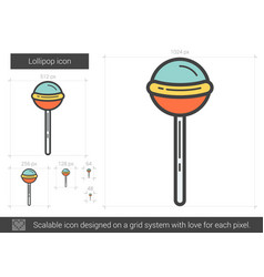 Lollipop line icon vector