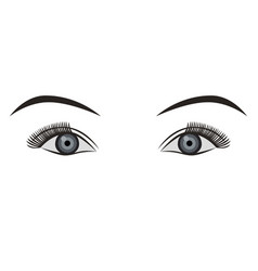 object pair of eyes grey isolated vector image vector image