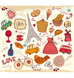 Parisian background vector