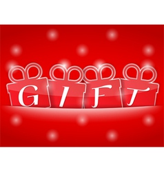 Red Gift Banner vector image vector image
