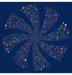 Salute star twirl vector
