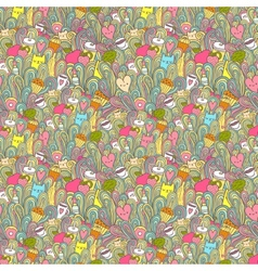 seamless pattern about girl dreams and wishes vector image
