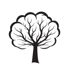 shape of black tree vector image vector image