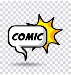 shape pop art comics vector image