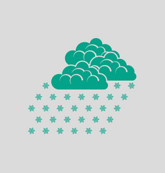 snowfall icon vector image vector image
