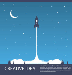 space rocket launch vector image vector image