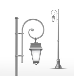 Street Lamp Isolated on White Background vector image vector image